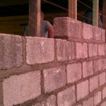 Cement block wall example