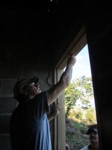 Chris Setting Door frame