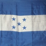 Honduran Flag showing 5 Republics