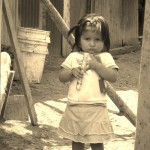 Little girl from barrio