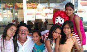 The 5 girls at church & ice cream 012