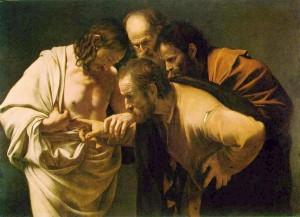 Jesus & Thomas 1602 by Caravaggio