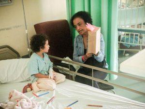 Alex at hospital